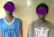 Les deux apprentis voleurs interpellés par la Police